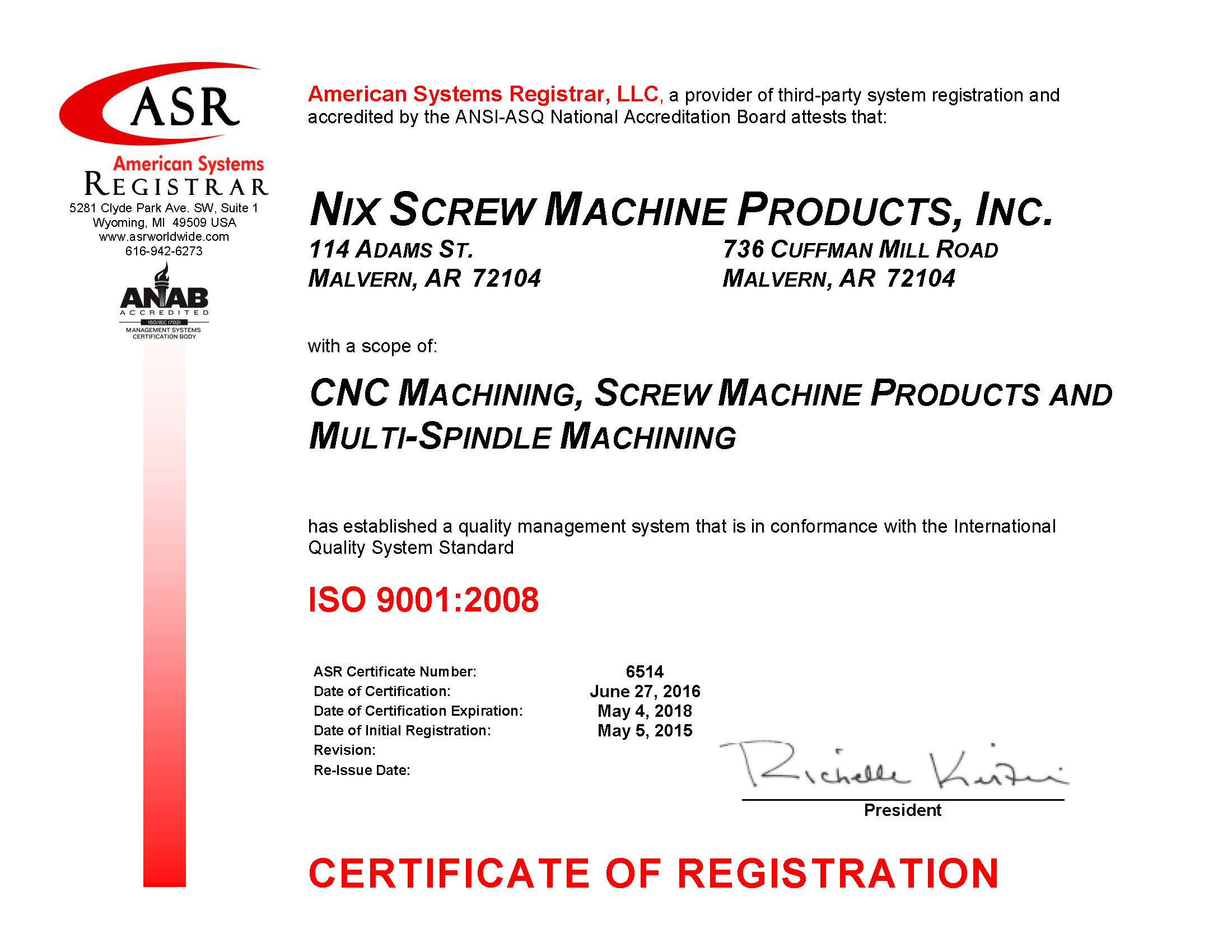 Iso Certified Swiss Cnc Machining Nix Screw Machine Shop Arkansas